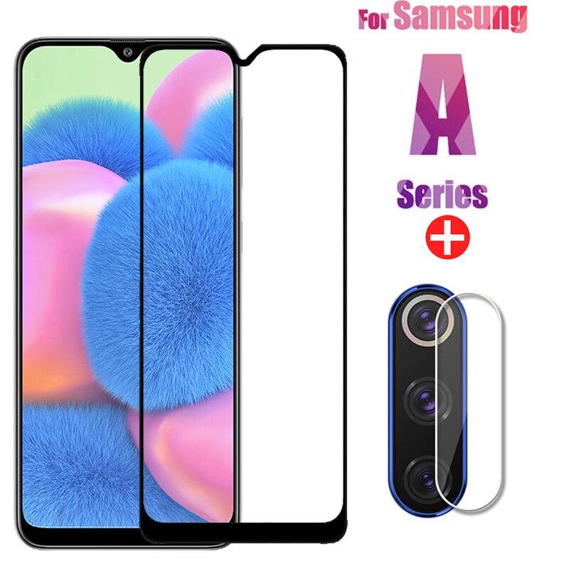 2 In 1 Samsun A30S Protective Glass For Samsung Galaxy A51 A50 A31 M21 A71 A30S Screen Protector Camera Lens Film On Samsun A 51