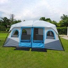 대형 캠핑 텐트 야외 큰 가족 텐트 8 10 12 사람 파티 텐트 방수 캐빈 캠프 안티 자외선 천막 텐트