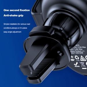 Image 3 - Hoco carregador sem fio para carro 10w, carregador wireless para iphone 11 x xs max, ventilação para suporte de telefone do carro suporte de montagem para samsung xiaomi