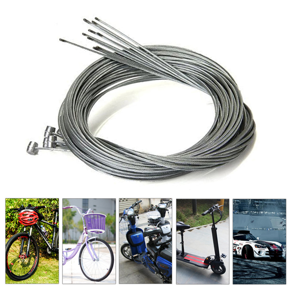 1.75M Road Bike Bicycle Brake Inner Wire Cable Line Stainless Steel 5Pcs