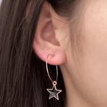 Japanese And Korean Style Trend Jewelry Personality Minimalist Alloy Tassel Star Pendant Earrings Ladies Temperament