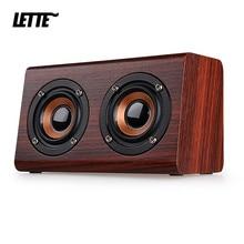Bluetooth de madeira alto-falante baixo diafragma volta aux entrada tf cartão reprodução subwoofer sem fio alto falantes graves portáteis