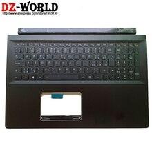 Novo/orig palmrest caso superior com teclado retroiluminado checo para lenovo edge 15 flex 2 pro 15 portátil c capa 5cb0g91162