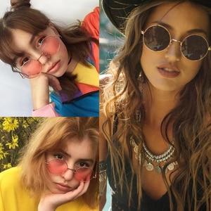 2019 Women Metal Lennon round sunglasses