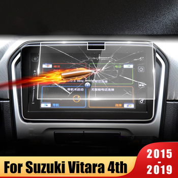 9inch Tempered Glass Car Navigation Screen Protector Portective Film For Suzuki Vitara 4th 2015 2016 2017 2018 2019 Accessories image