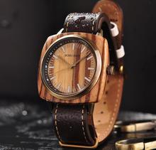 Montre de luxe en bois pour hommes, marque de luxe, étanche en bois, cadeau de noël pour petit ami, livraison directe
