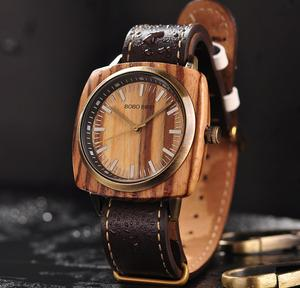 Image 1 - reloj hombre BOBO BIRD Men Watch Luxury Brand Wood Waterproof Watches erkek kol saati Christmas Gift for Boyfriend Dropshipping