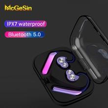 Novo sem fio bluetooth fone de ouvido esporte ipx7 à prova dwireless água earbud bobina dupla ação gaming headset para xiaomi huawei samsung