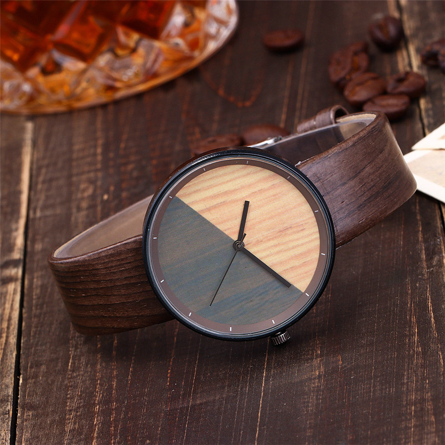 Women Watch Creative Wood Texture Leather Band Ladies Watch Women Fashion Watches Relogio Feminino Reloj Mujer Zegarek Damski
