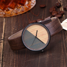 Women Watch Creative Wood Texture Leather Band Ladies Watch