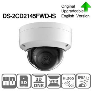 Image 3 - هيكفيجن DS 2CD2145FWD I بو كاميرا فيديو الأمن 4MP الأشعة تحت الحمراء شبكة كاميرا بشكل قبة 30M IR IP67 IK10 H.265 + SD فتحة للبطاقات
