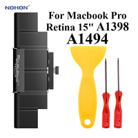 Nohon Laptop Battery A1494 For Apple MacBook Pro Retina 15 A1398 Late 2013 Mid 2014 ME293 ME294 MGXA2 MGXC2 Li Polymer Battery