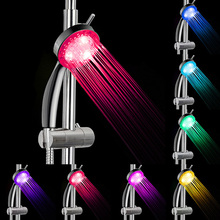 Bathroom shower head LED shower head RGB LED Shower Head RGB 7 Colorful LED Light Water Bath Bathroom Filtration Shower ouneed 35 24mm romantic 7 color change led light shower head water bath home bathroom glow happy gifts high quality abs