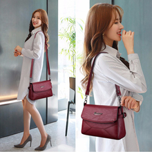 Elegant Ladies Shoulder Bag 2019 New Envelope Packet High Quality Leather Womens Crossbody Bags With Adjustable Strap