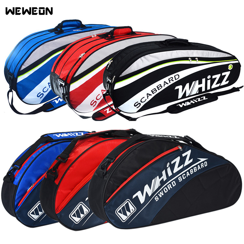 2-6Pcs Badminton Racquet Bag Tennis Bags For Training Jacquard Racket Sports Backpack For Shoes Men Women Squash Accessories