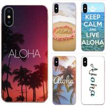 Flower Aloha Palm Trees Beach Art For Xiaomi Redmi Note 8 8A 8T 10 K30 5G Soft Silicone TPU Transparent Protective Skin(China)