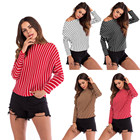 Striped  Knitted Swe...