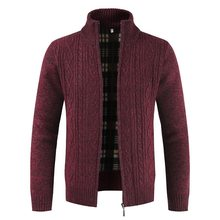 Laamei Men's Sweaters Autumn Winter Warm Knitted Sweater Jackets Cardigan Coats Fashion Zipper Male Clothing Casual Knitwear(China)