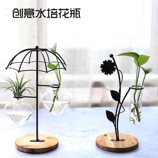 Home Party Decoration Vase Abstract Black Lines Minimalist Abstract Iron Vase Dried Flower Vase Racks Nordic Flower Ornaments 4