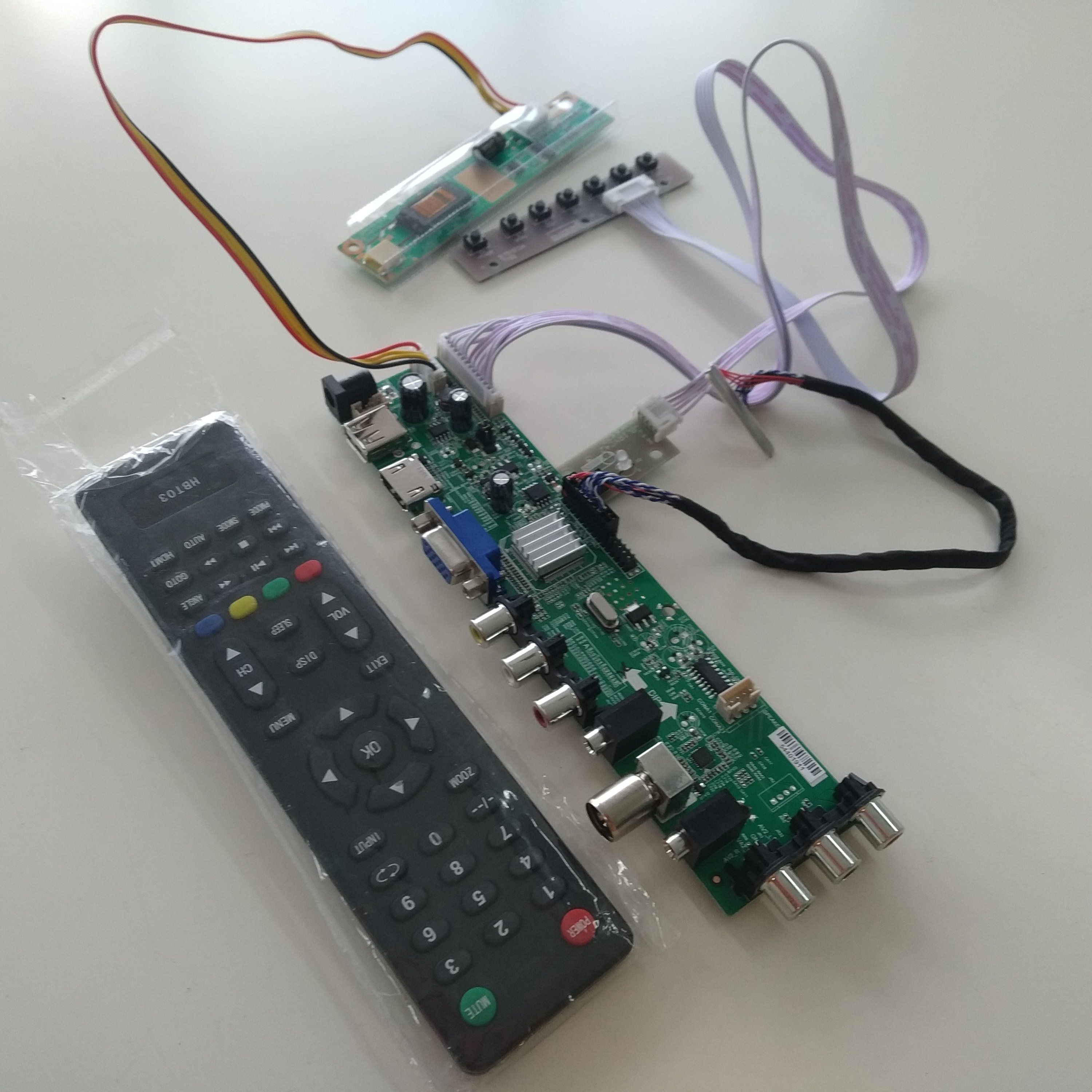 Kit for N154I2-L02 Rev.C1 30pin <font><b>USB</b></font> <font><b>AV</b></font> digital 1280X800 Controller <font><b>board</b></font> DVB-T DVB-C <font><b>HDMI</b></font> <font><b>LCD</b></font> 1 CCFL 15.4