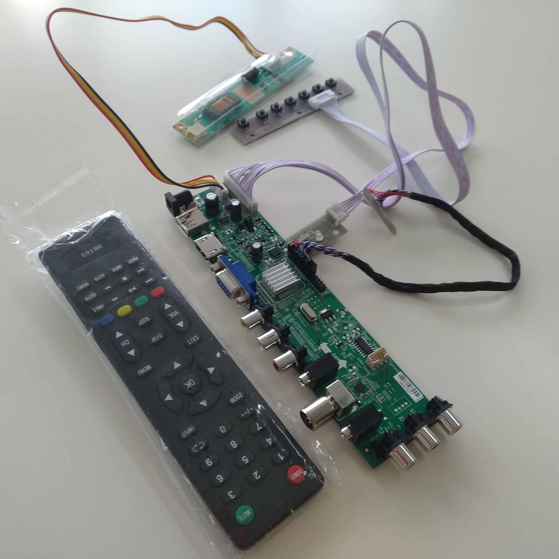 """N154I2-L02 用改訂。 c1 30pin USB AV デジタル 1280 800 コントローラーボード DVB-T DVB-C HDMI 液晶 1 CCFL 15.4 """"テレビパネル VGA"""