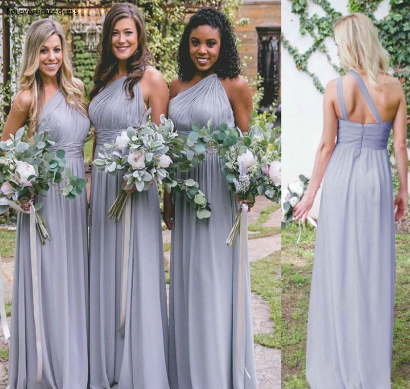 2019 New Arrival   Bridesmaid     Dress   Hot Sale Cheap Chiffon Country Garden Formal Wedding Party Guest Maid of Honor Gown Plus Size