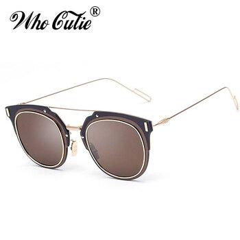 WHO CUTIE COMPOSIT 1.0 Sunglasses Men Women Superstar Selena Gomez Justin Bieber Reflected Lens Flat Top Sun Glasses Shades OM56