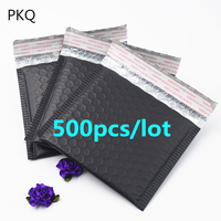 Size 15*13cm Matte Black Envelopes Bags Aluminium Foil Mailers Padded Envelope With Mailing Bag Business Supplies Free Shipping