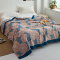 Japanese throw blanket cotton gauze towel four seasons Bedspread soft leisure blanket single double dormitory home sofa cover