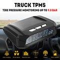 Автомобильная сигнализация TPMS Солнечный Автобус Грузовик TPMS Беспроводная система контроля давления в шинах с 6/4 внешними датчиками давлен...
