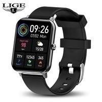 LIGE Smart Watch Men Full Touch Screen Sport Fitness Watch Waterproof Smart Bracelet Band For Android iOS Smartwatch Men relogio