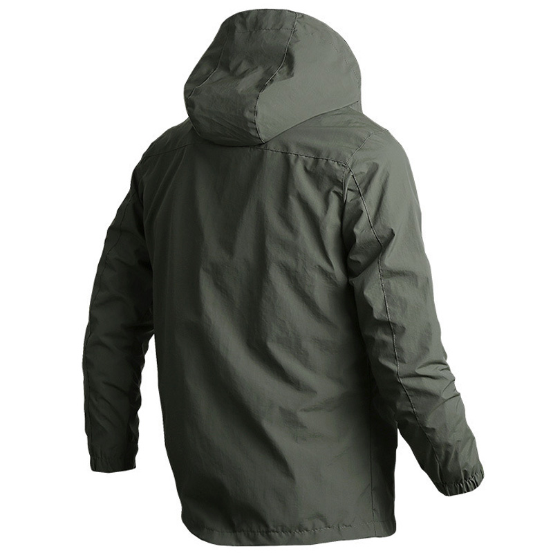 Men's sportswear Windbreaker Military Thin Jackets for Men Casual streetwear Breathable Hooded coats Brand Clothing Size M~6XL 4
