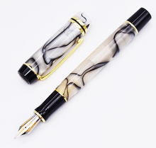 Kaigelu 316 Celluloid Fountain Pen, Iridium EF/F/M Nib Beautiful Marble Crystal Pattern Ink Pen Writing Gift for Office Business