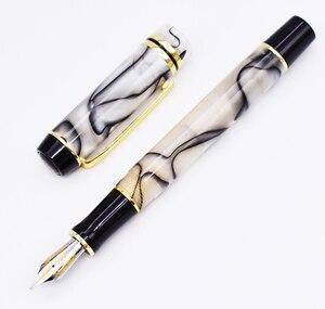 Image 1 - Kaigelu 316 celuloidowe pióro wieczne, stalówka Iridium EF/F/M piękny marmurowy wzór kryształu pióro atramentowe prezent do pisania dla biura