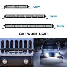 цена на Safego 60W 120W 180W LED Work Light Bar Spot Beam Car Driving Work Lamp For Off Road ATV UAZ SUV 4x4 Truck Tractor Boat Wrangler