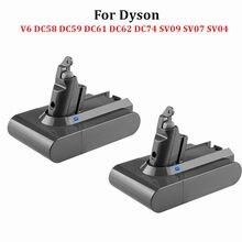 21.6V 6000mAh Li-ion Battery Replacement para Dyson Aspirador SV09 SV07 SV03 DC58 DC61 DC62 DC74 V6 965874-02 Animal Bateria