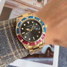 TACTO-reloj deportivo de lujo para hombre, cronógrafo de cuarzo, resistente al agua, color dorado, novedad, 2021
