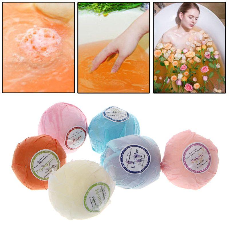 Organic Bath Bombs Bubble Bath Salts Essential Oil Handmade SPA Stress Relief 094E