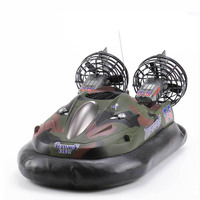 Remote Control Boat Boys Simulation Hovercraft Model Electronic Toy for Kids Hovercraft Boat In Water Land Toys 10 Year Old Bb50
