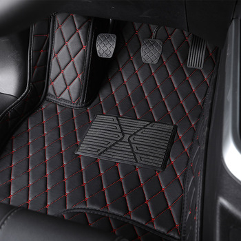 Flash mat leather car floor mat For Kia Rio K3 K5 K7 Sportage Soul Cerato Forte Opirus Optima Sorento Carens Carnival Bongo foot image
