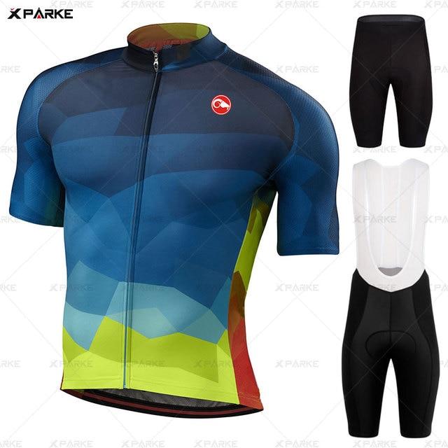 Conjunto camisa da bicicleta de estrada roupas ciclismo verão mtb roupas da equipe dos homens manga curta uniforme triathlon skinsuit ropa hombre 2020 1