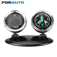 FORAUTO 2 in 1 Guide Ball Car Compass Thermometer Car styling Car Ornaments Direction Dashboard Ball Auto Accessories|  -