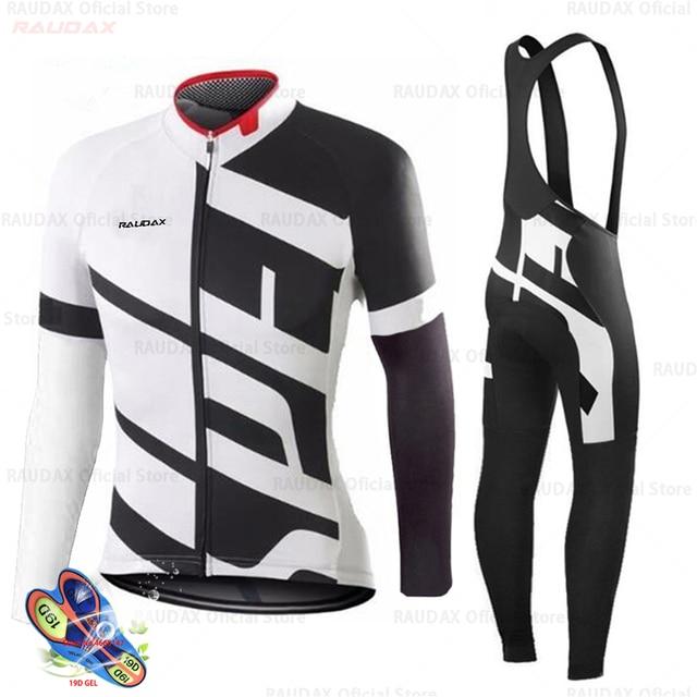 Primavera 2020 pro equipe raudax camisa de ciclismo outono mtb ciclismo roupas verão manga longa triathlon mountain bike bib pant conjunto 4