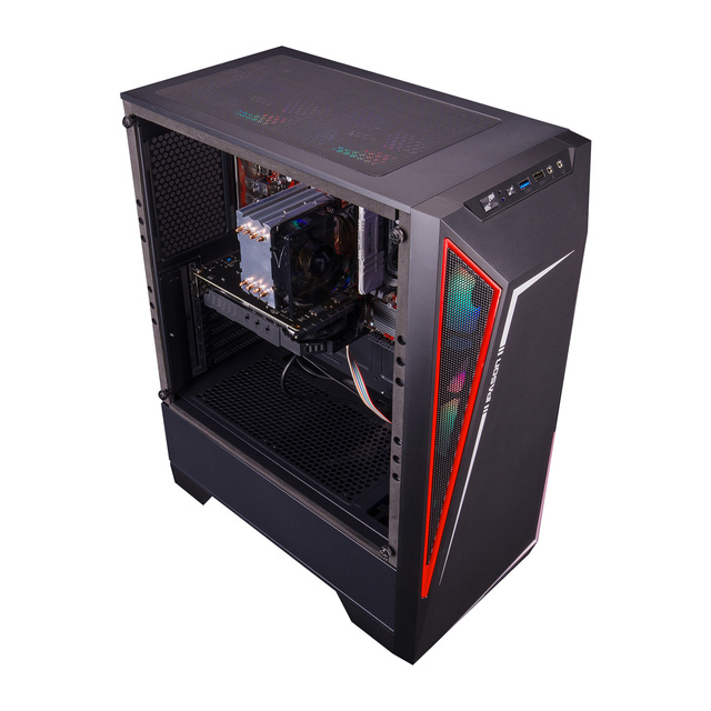 IPASON S5 AMD Game Console R5 5600X/6600XT/3A New Desktop Assembly Full Set Of PUBG Computer E-sports Game-Type Water-cooled 2