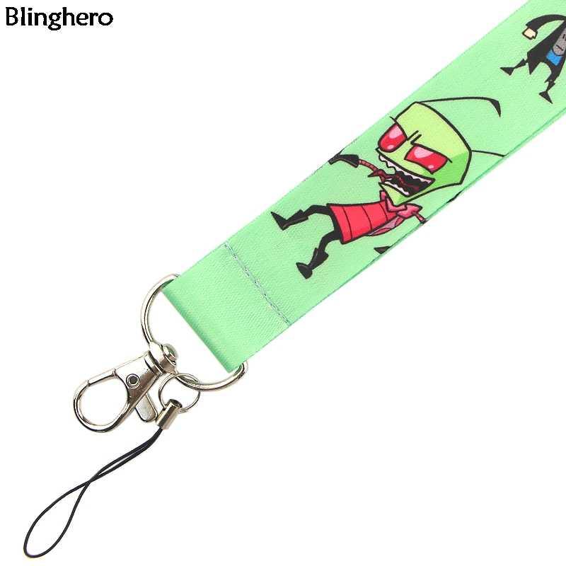 Blinghero smycz z motywem kreskówkowym klucze telefon USB fajne etui na dowód osobisty pasek na szyję z smyczą do aparatu dla dzieci rodzinnych BH0388
