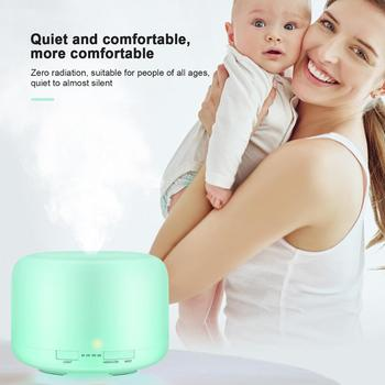 Ultrasonic air humidifier aromatherapy with nightlight electric essential oil machine