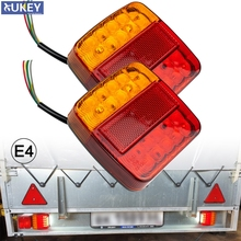 26LED Submersible Trailer Lights Stop Tail Turn Signal Lights License Number Plate for Boat Trailer Truck RV Lighting Upgrade