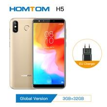 "HOMTOM H5 3GB 32GB נייד טלפון 3300mAh תשלום מהיר Android8.1 5.7 ""פנים מזהה 13MP מצלמה MT6739 quad Core 4G FDD LTE Smartphone"