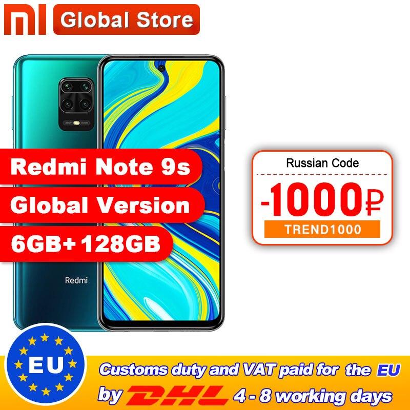 Global Version Xiaomi Redmi Note 9S 6GB 128GB Smartphone Snapdragon 720G Octa core 5020 mAh 48MP Quad Camera(China)