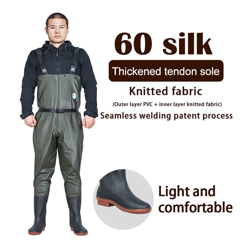 Hoge kwaliteit Winter vissen Waterdichte broek laarzen vliegvissen pak Waden rubber laarzen steltlopers schoenen voor mannen Outdoor product
